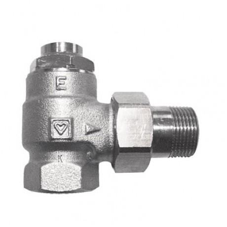 "Herz Single Pipe Lockshield - 1/2"" Angled"
