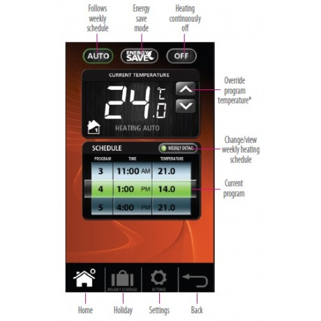 Smart Plug-in Programmable Thermostat for Combi Boilers